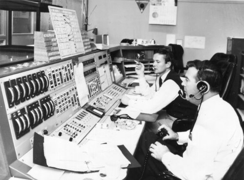 John and Mike at the Ops console