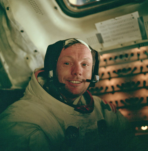 Neil Armstrong after the EVA