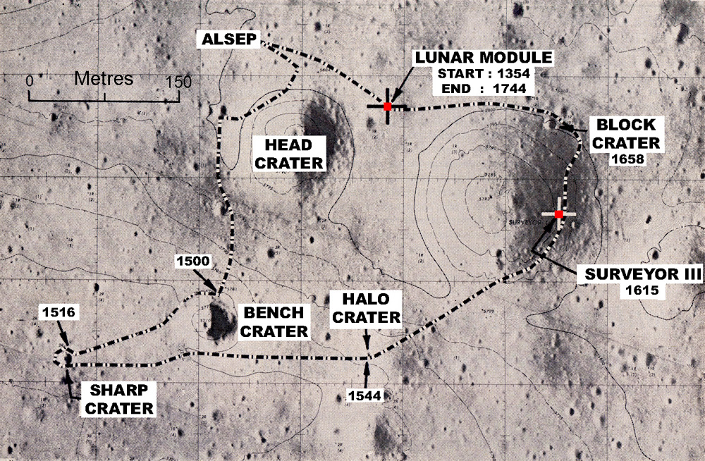 location moon map landing site apollo 12 - photo #9