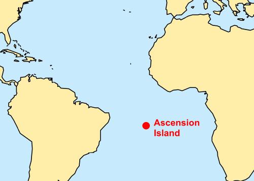 Ascension Island Intro - Ascension island google map