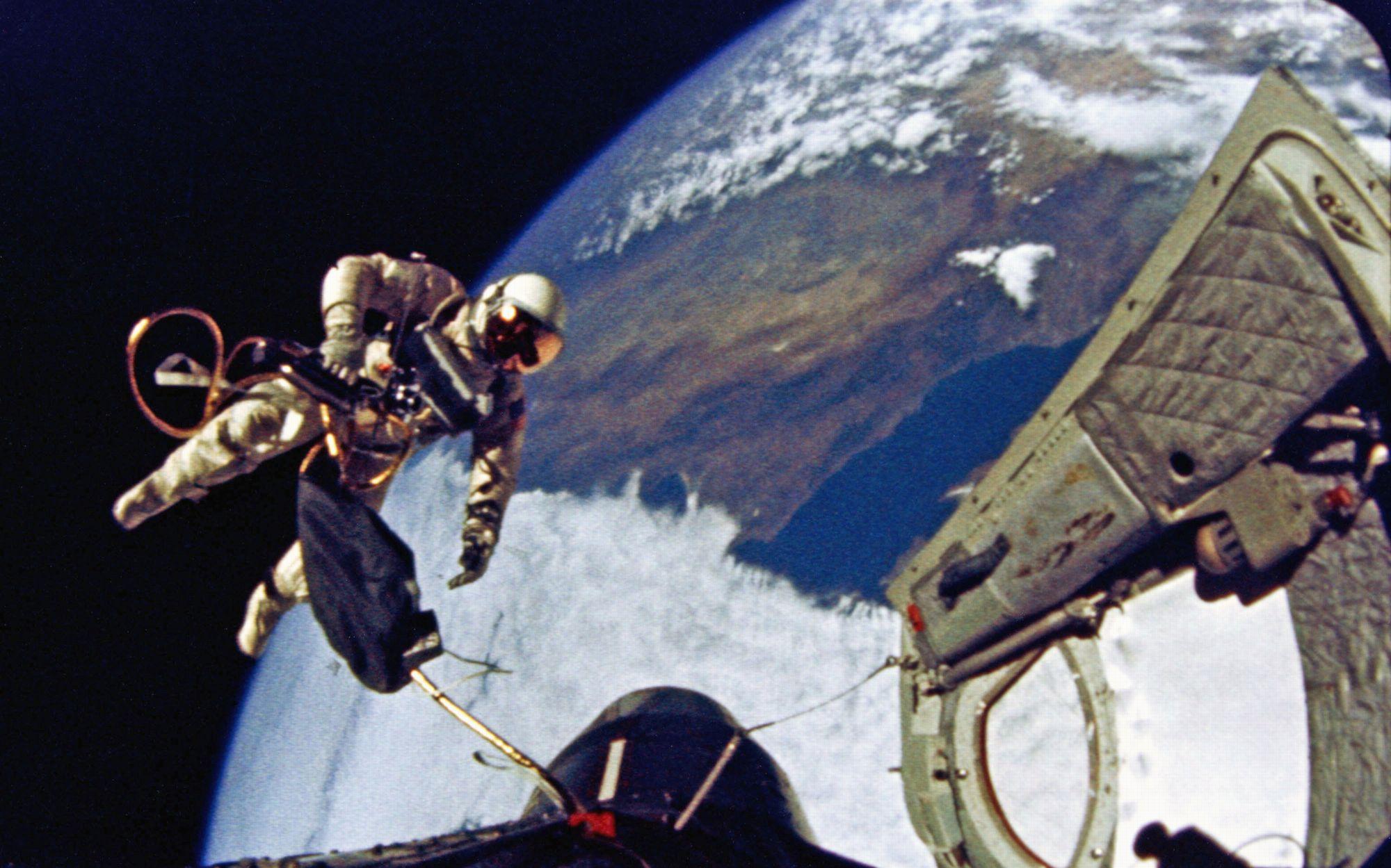 Image result for ed white spacewalk