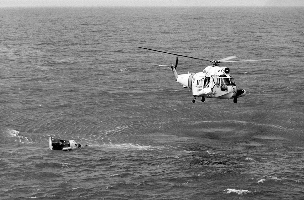 picture of helicopter during a recovery mission