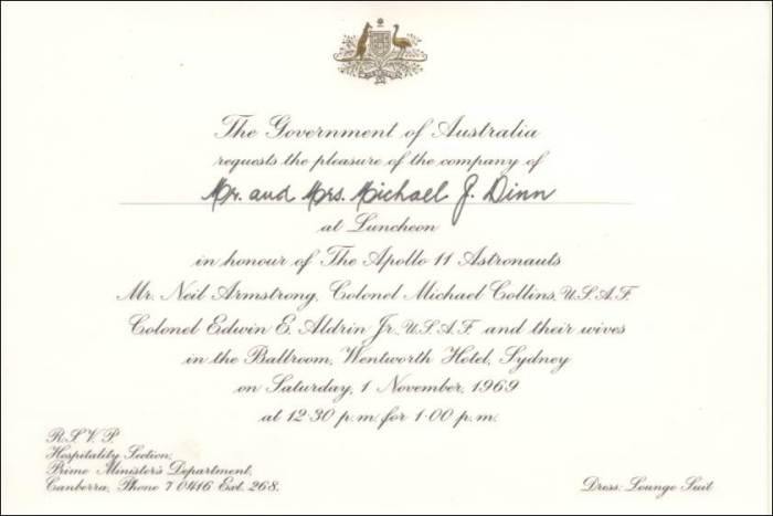 Invitation message for lunch idealstalist apollo 11 sydney lunch november 1969 stopboris Images
